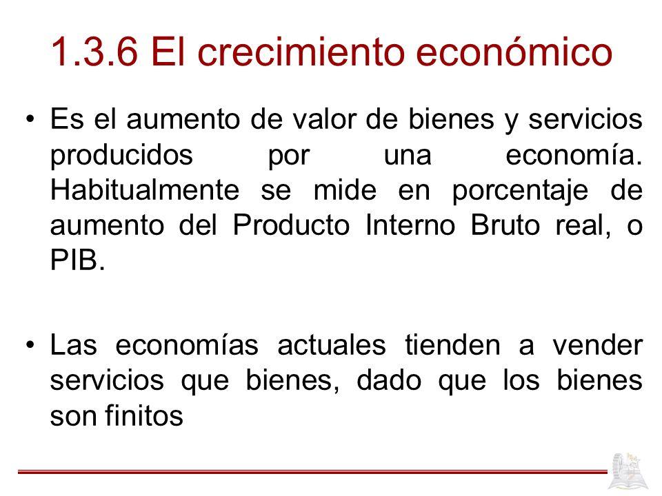 1.3.6 El crecimiento económico