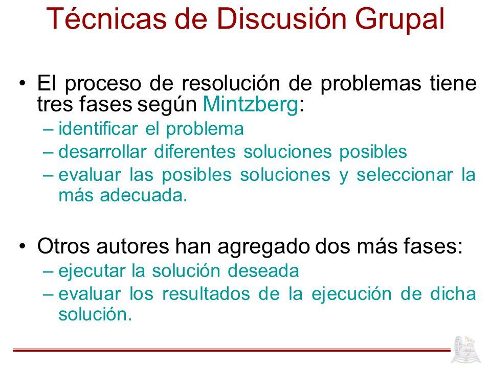 Técnicas de Discusión Grupal