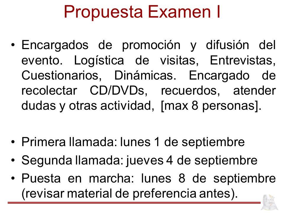 Propuesta Examen I