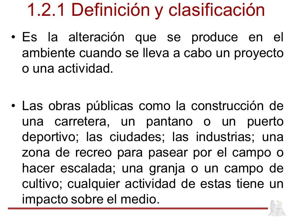 1.2.1 Definición y clasificación