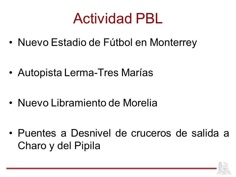 Actividad PBL Nuevo Estadio de Fútbol en Monterrey