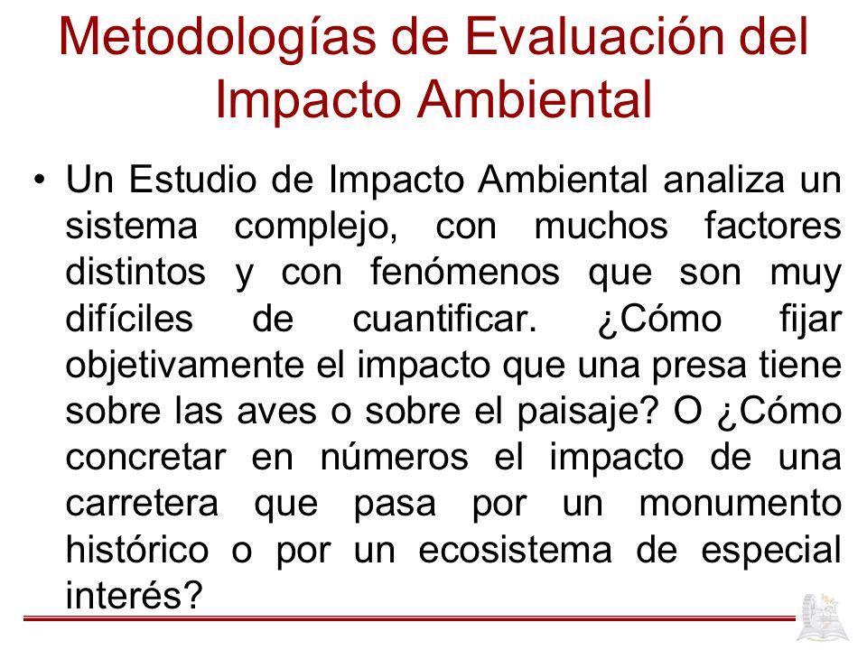 Metodologías de Evaluación del Impacto Ambiental