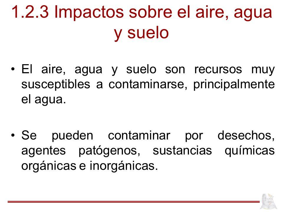 1.2.3 Impactos sobre el aire, agua y suelo