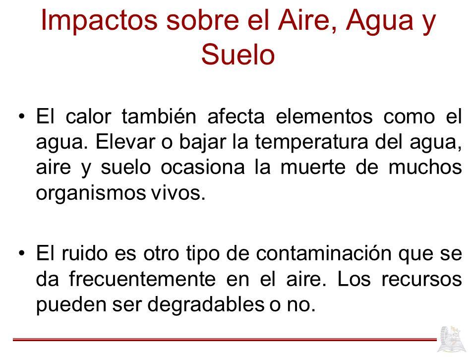 Impactos sobre el Aire, Agua y Suelo
