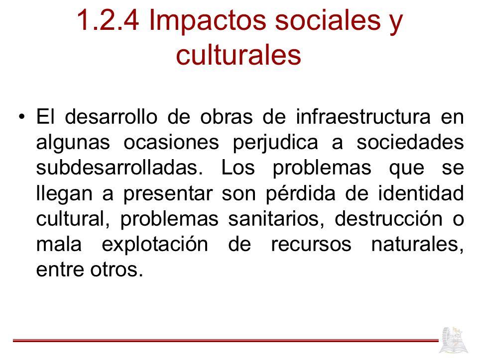 1.2.4 Impactos sociales y culturales
