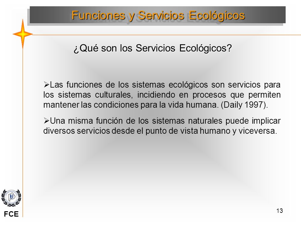Funciones y Servicios Ecológicos