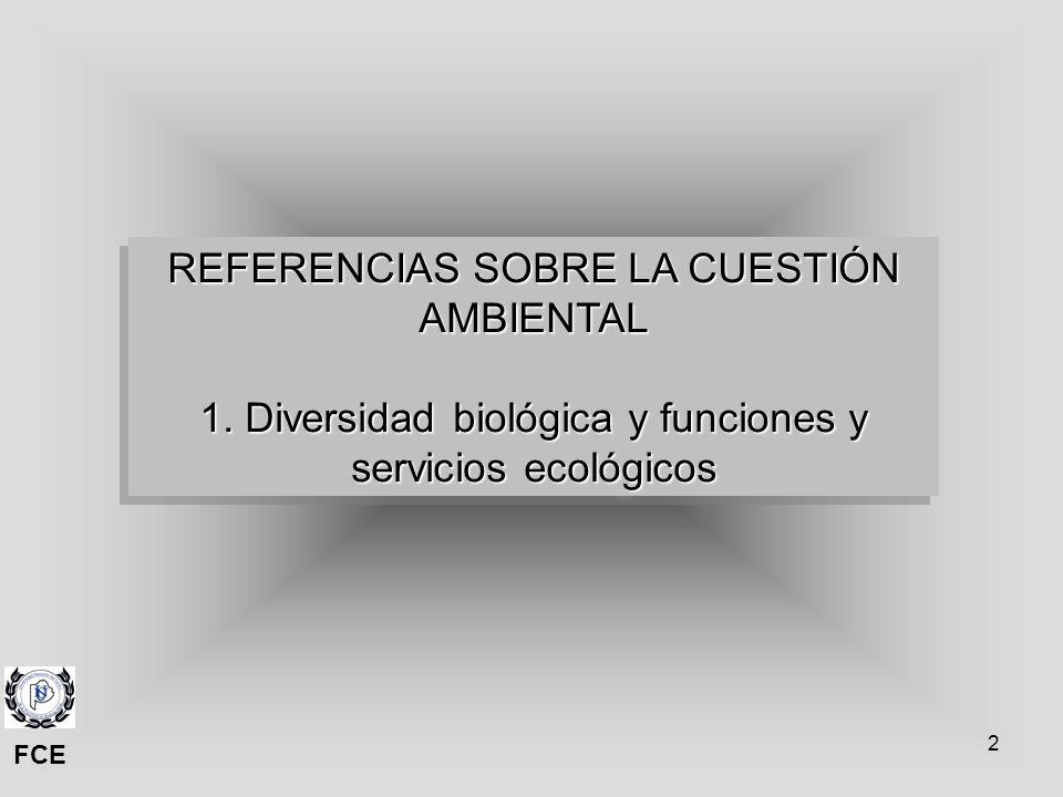 REFERENCIAS SOBRE LA CUESTIÓN AMBIENTAL