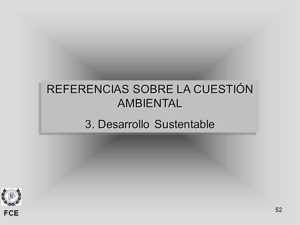 REFERENCIAS SOBRE LA CUESTIÓN AMBIENTAL 3. Desarrollo Sustentable