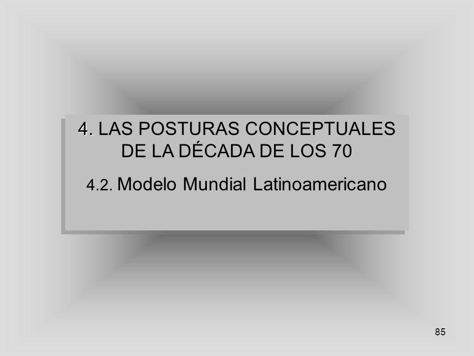 4. LAS POSTURAS CONCEPTUALES DE LA DÉCADA DE LOS 70