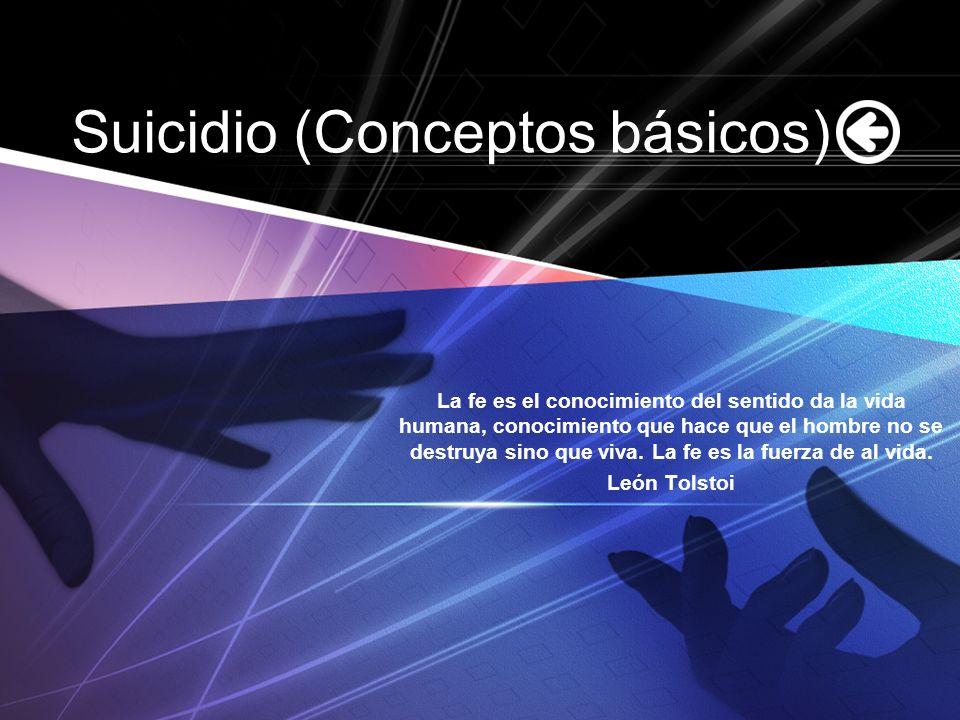 Suicidio (Conceptos básicos)