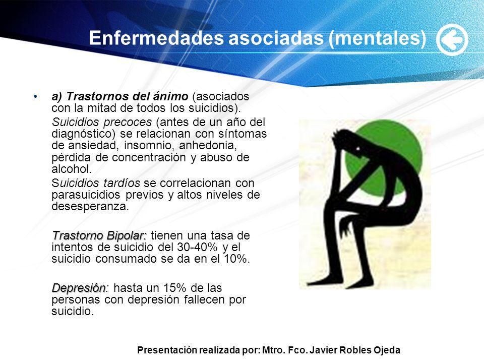 Enfermedades asociadas (mentales)