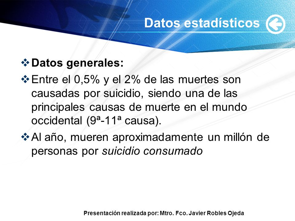 Datos estadísticos Datos generales:
