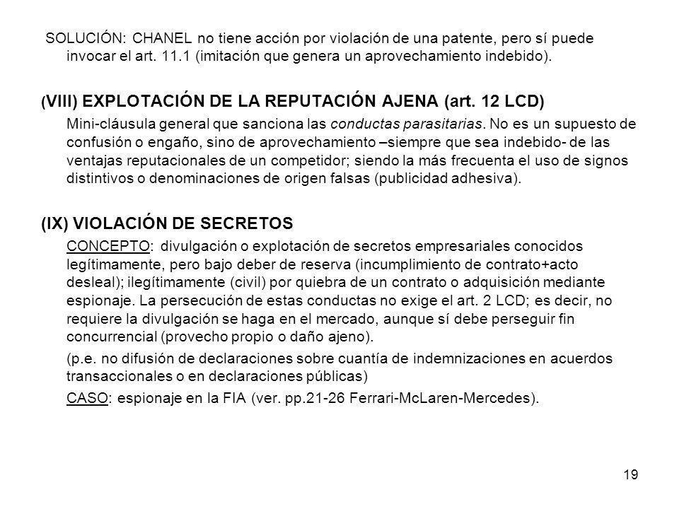 (IX) VIOLACIÓN DE SECRETOS