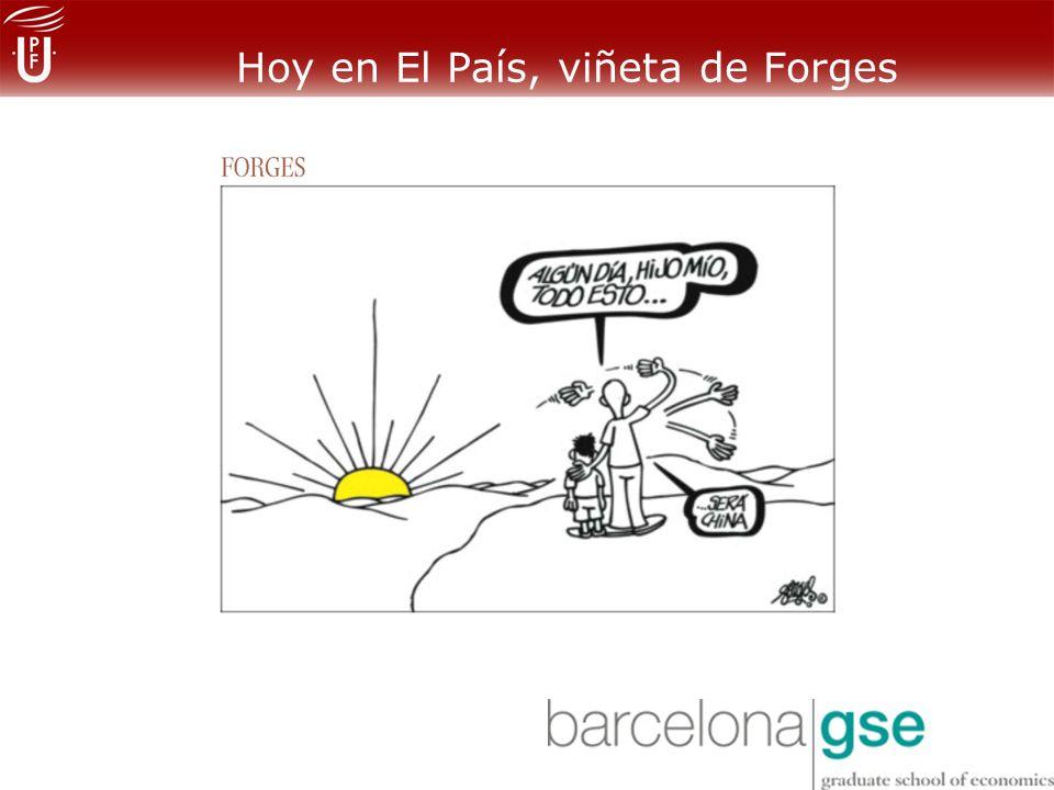 Hoy en El País, viñeta de Forges