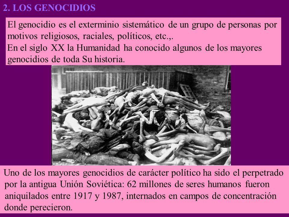 El genocidio es el exterminio sistemático de un grupo de personas por