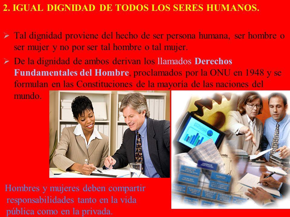 2. IGUAL DIGNIDAD DE TODOS LOS SERES HUMANOS.