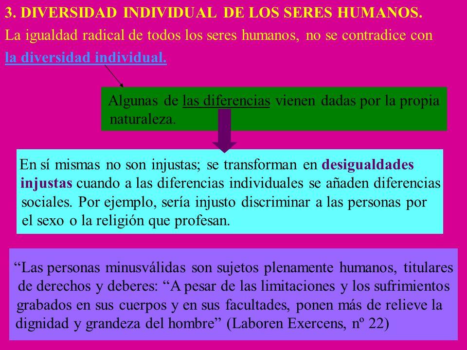 3. DIVERSIDAD INDIVIDUAL DE LOS SERES HUMANOS.