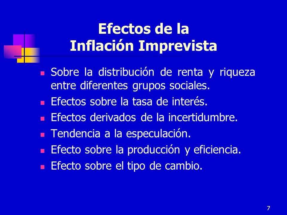 Efectos de la Inflación Imprevista