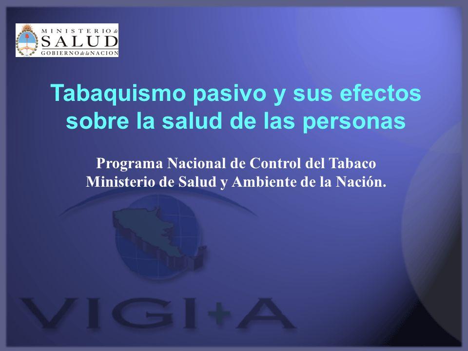 Tabaquismo pasivo y sus efectos sobre la salud de las personas