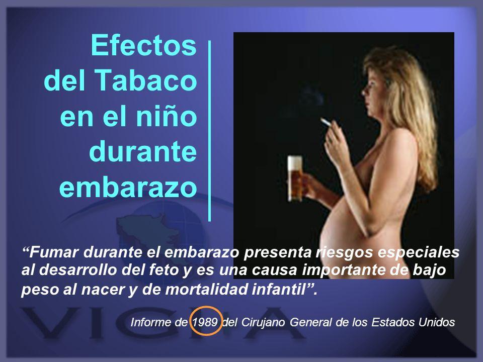 Efectos del Tabaco en el niño durante embarazo