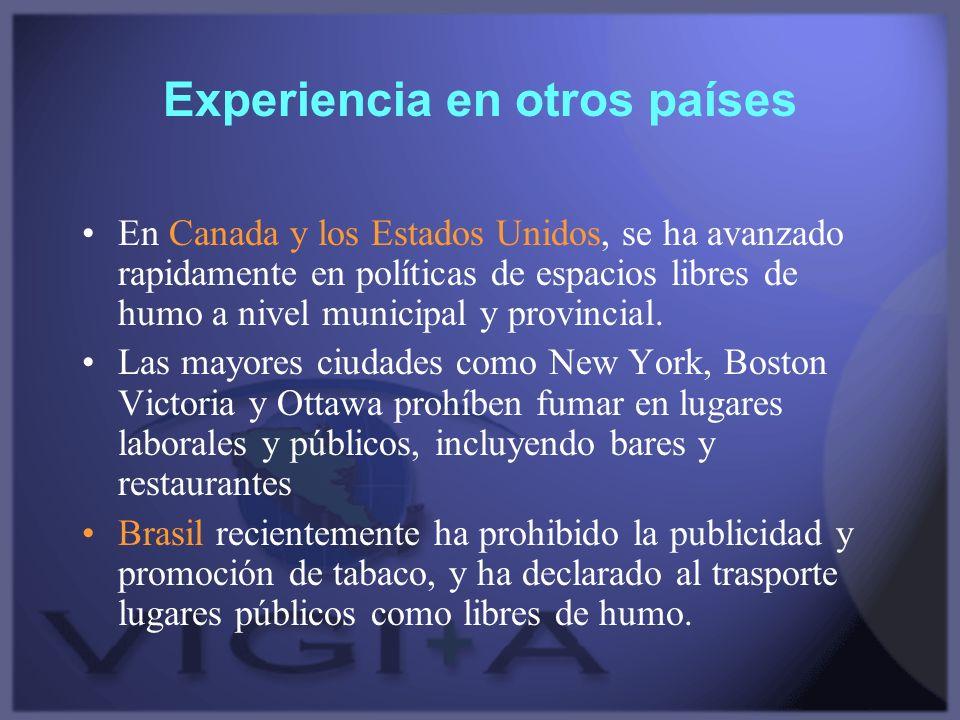 Experiencia en otros países
