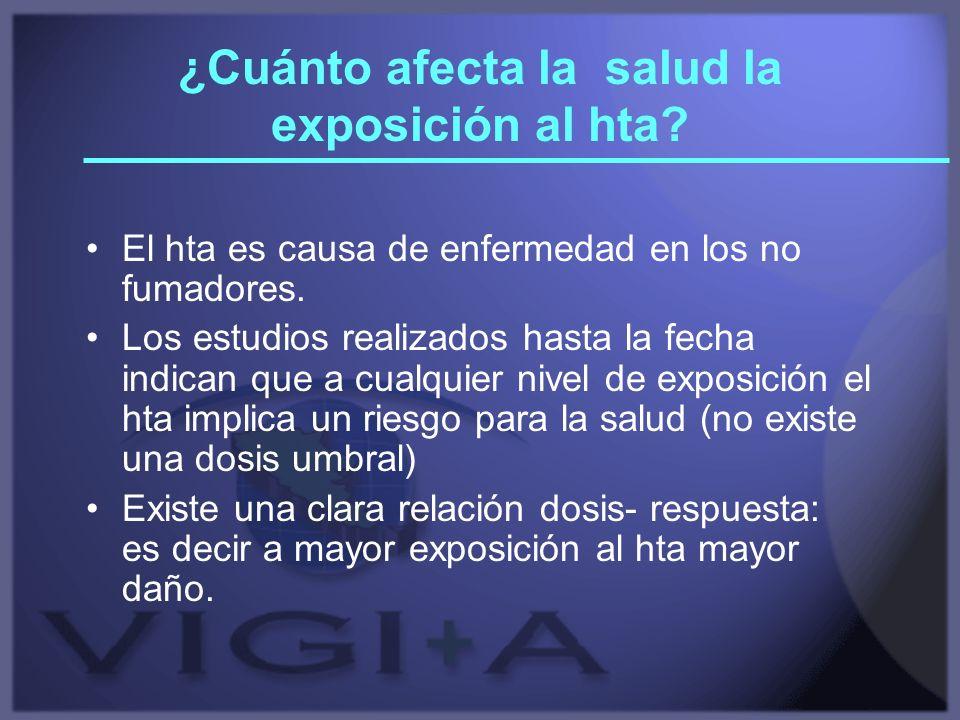 ¿Cuánto afecta la salud la exposición al hta