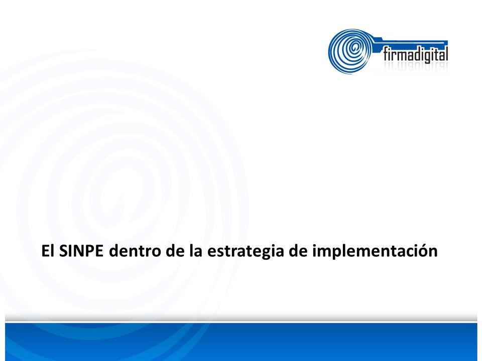 El SINPE dentro de la estrategia de implementación