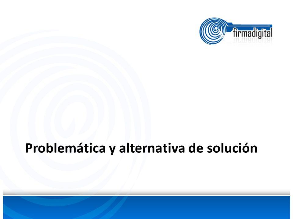 Problemática y alternativa de solución