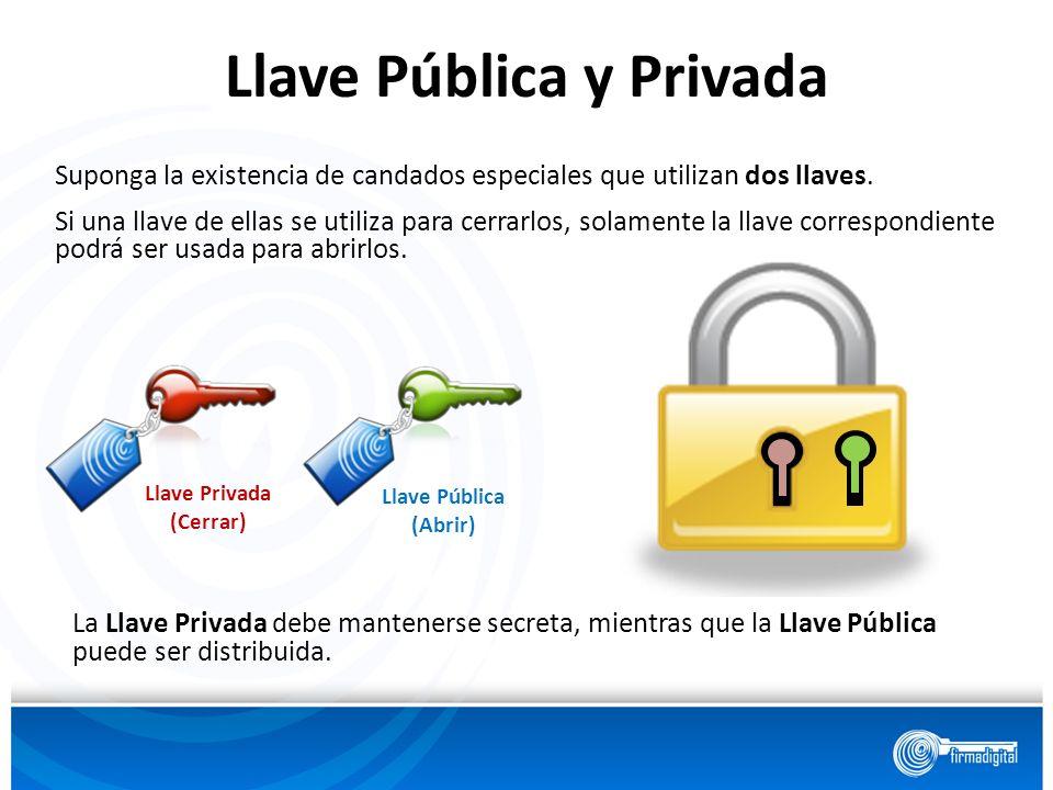 Llave Pública y Privada