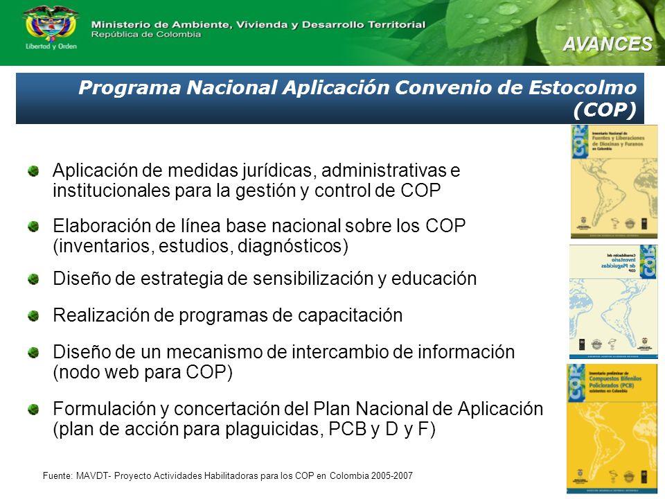Programa Nacional Aplicación Convenio de Estocolmo (COP)