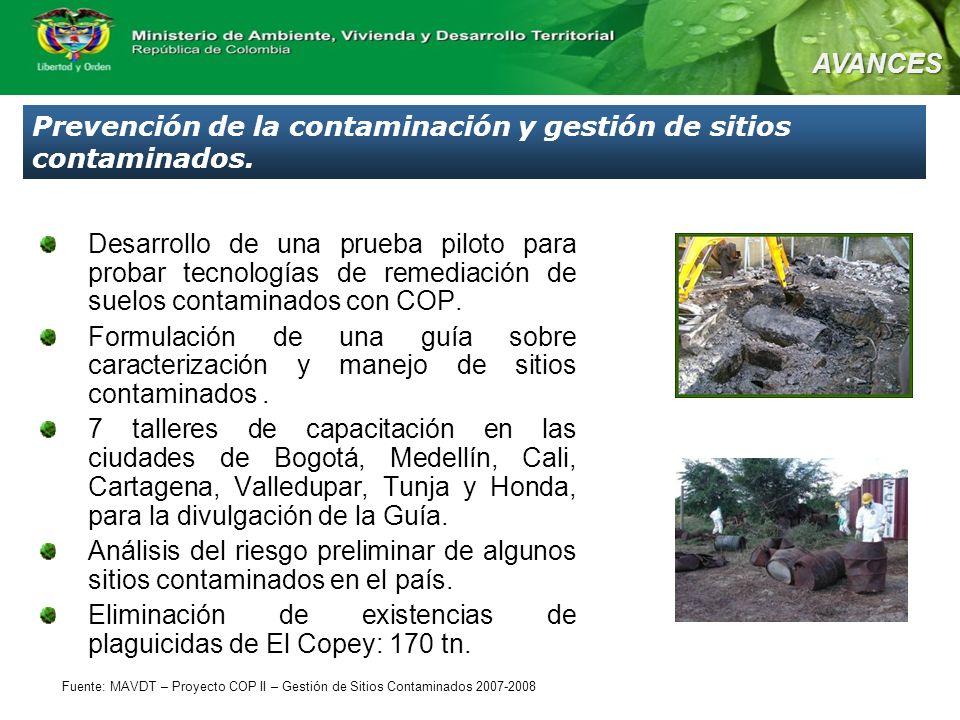 Prevención de la contaminación y gestión de sitios contaminados.
