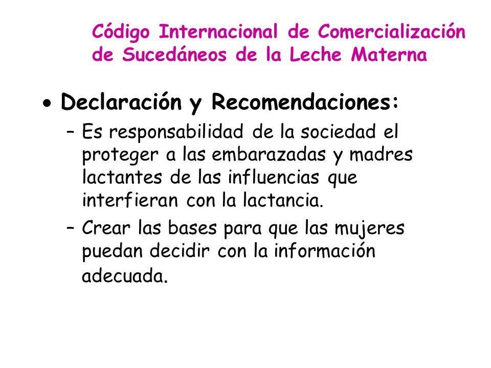 Declaración y Recomendaciones: