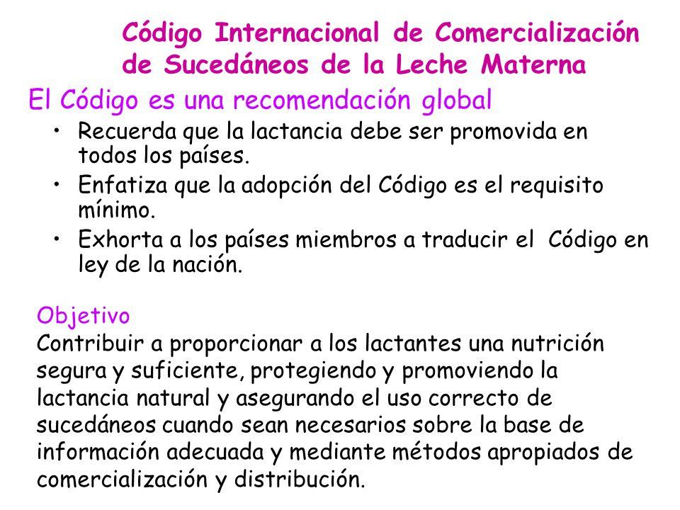 El Código es una recomendación global