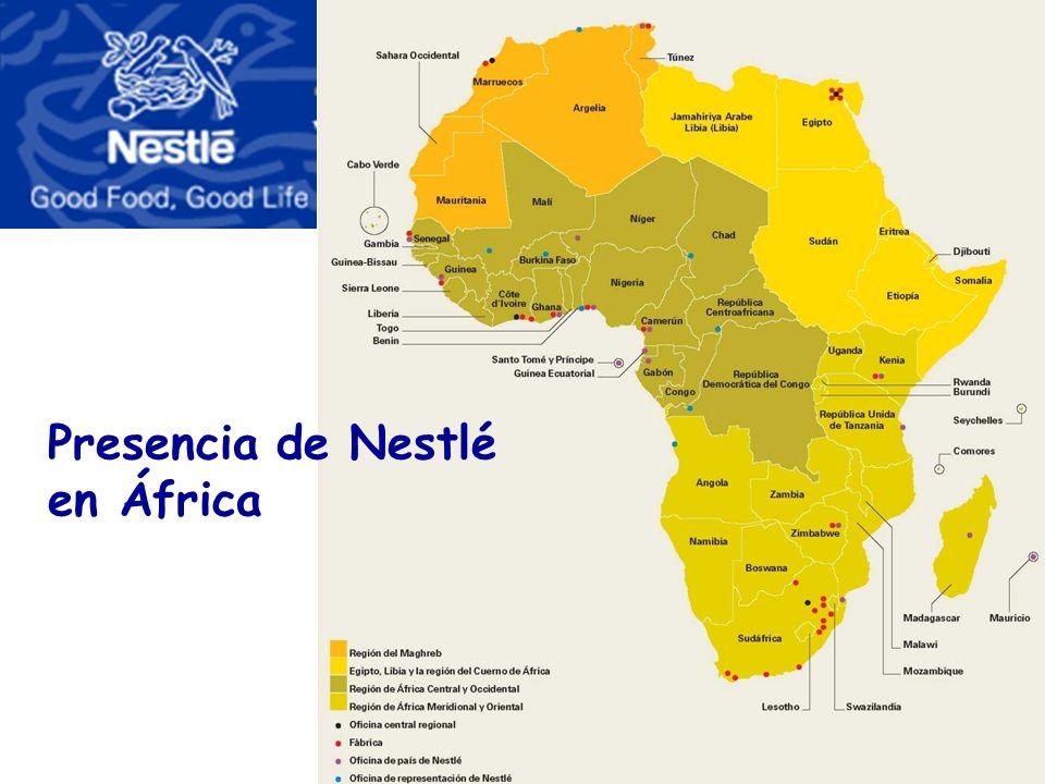 Presencia de Nestlé en África