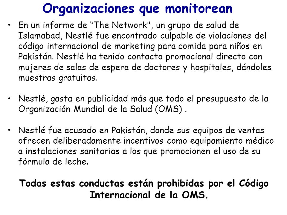 Organizaciones que monitorean