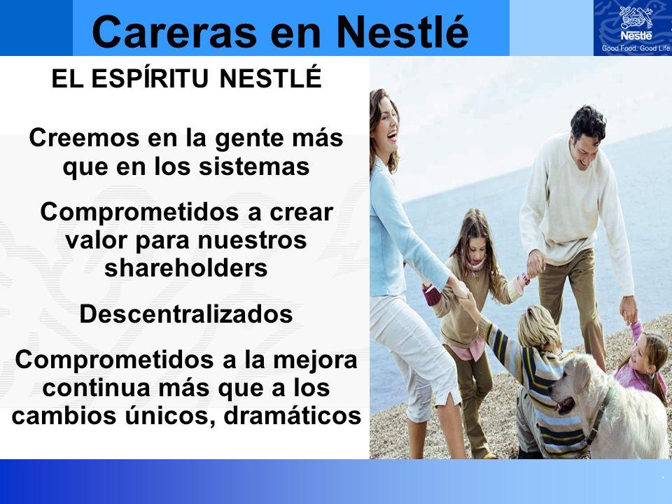 Careras en Nestlé EL ESPÍRITU NESTLÉ