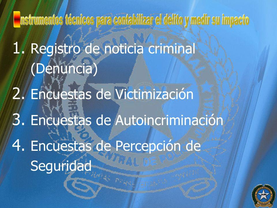 nstrumentos técnicos para contabilizar el delito y medir su impacto