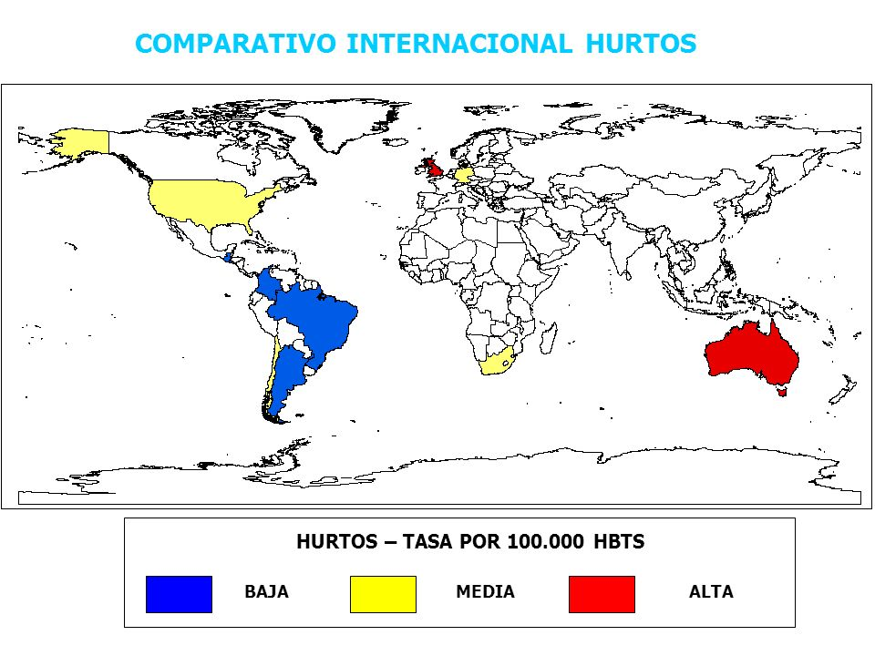COMPARATIVO INTERNACIONAL HURTOS