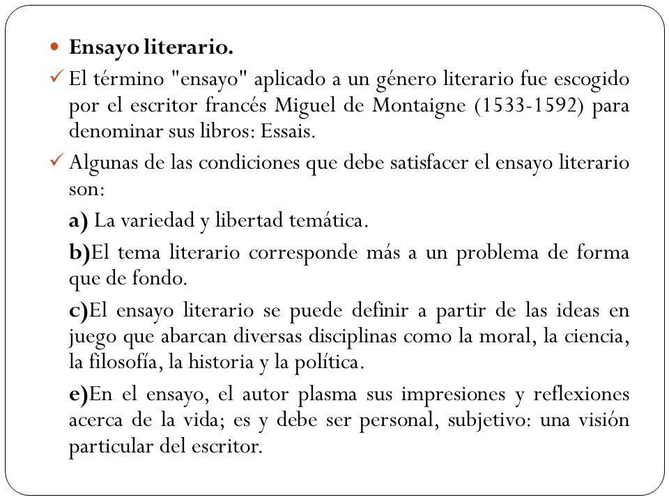 Ensayo literario.
