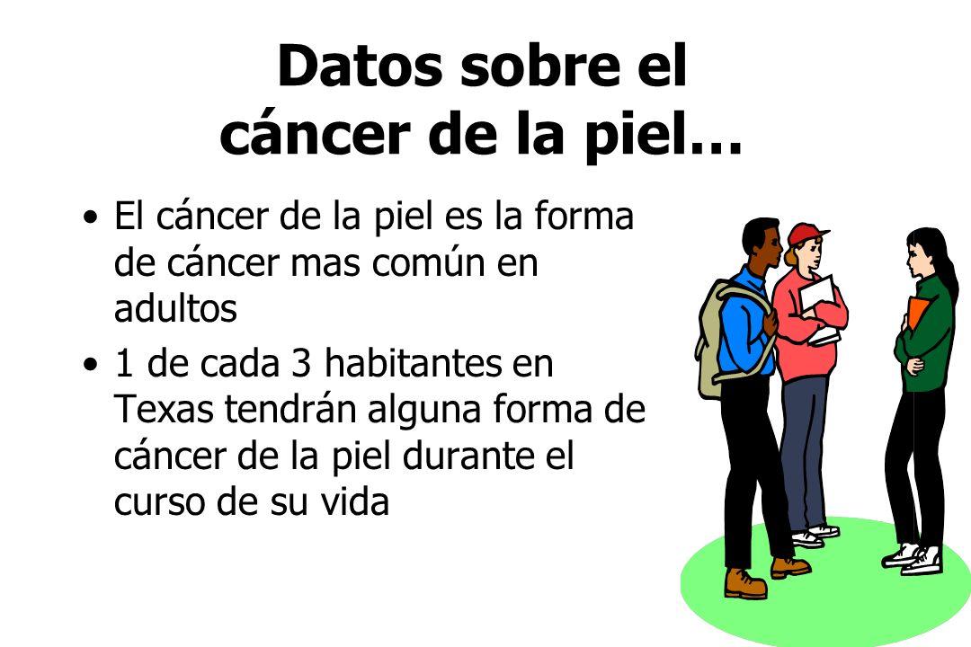 Datos sobre el cáncer de la piel…