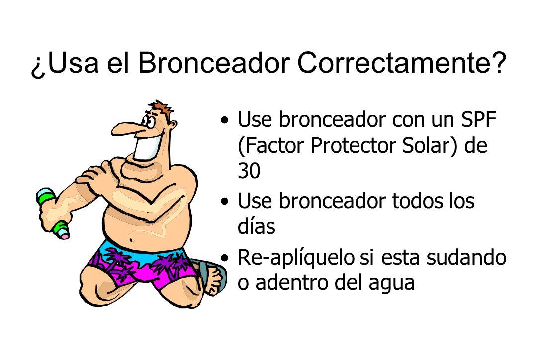¿Usa el Bronceador Correctamente