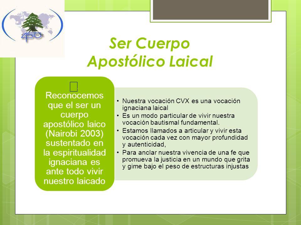 Ser Cuerpo Apostólico Laical