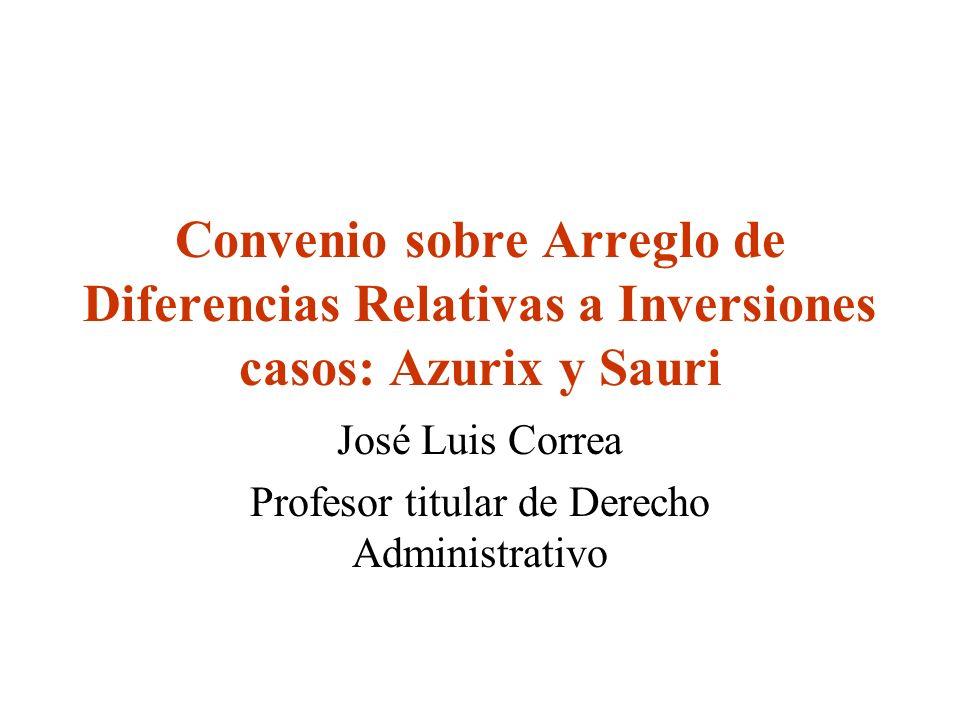 José Luis Correa Profesor titular de Derecho Administrativo