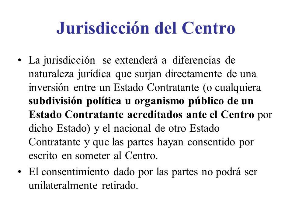 Jurisdicción del Centro