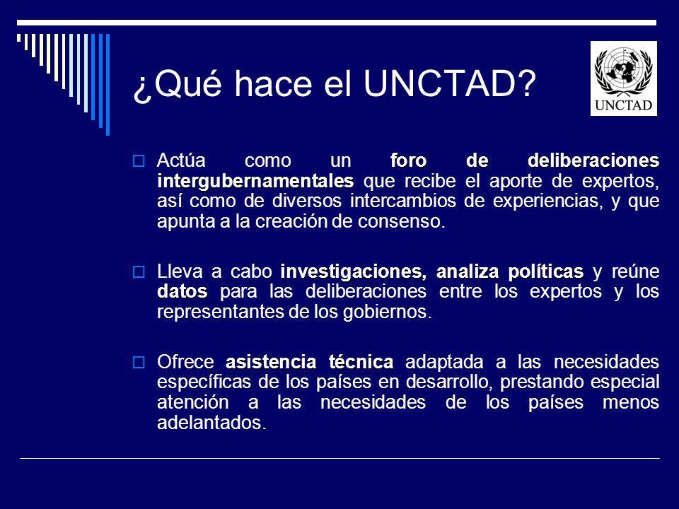¿Qué hace el UNCTAD