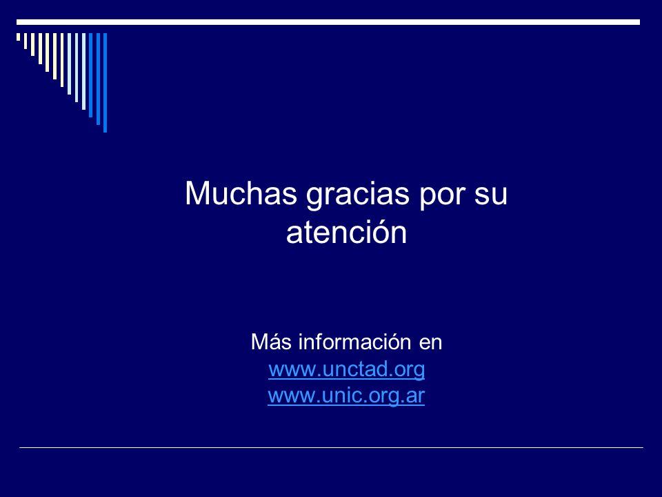 Muchas gracias por su atención Más información en www. unctad. org www