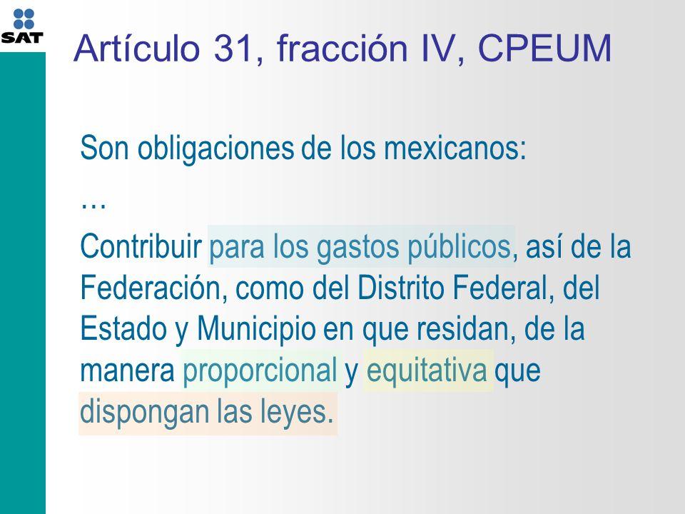 Artículo 31, fracción IV, CPEUM