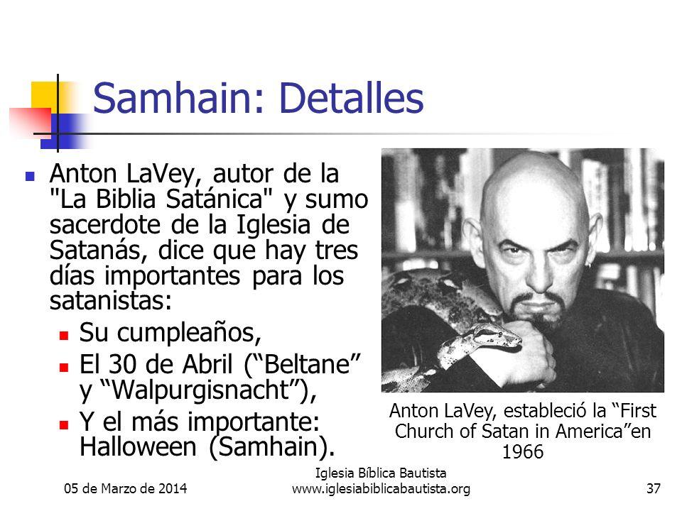 Samhain: Detalles