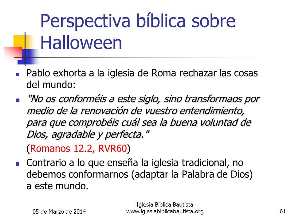 Perspectiva bíblica sobre Halloween