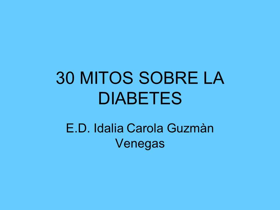 30 MITOS SOBRE LA DIABETES